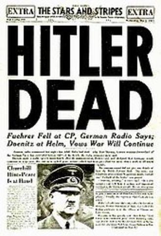 Hilter Commits suicide