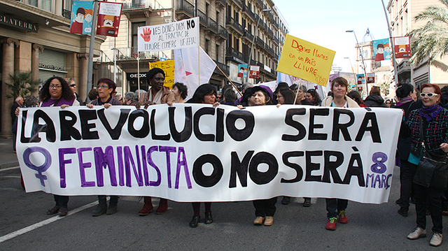 Manifestacions Mundials dia de la Dona