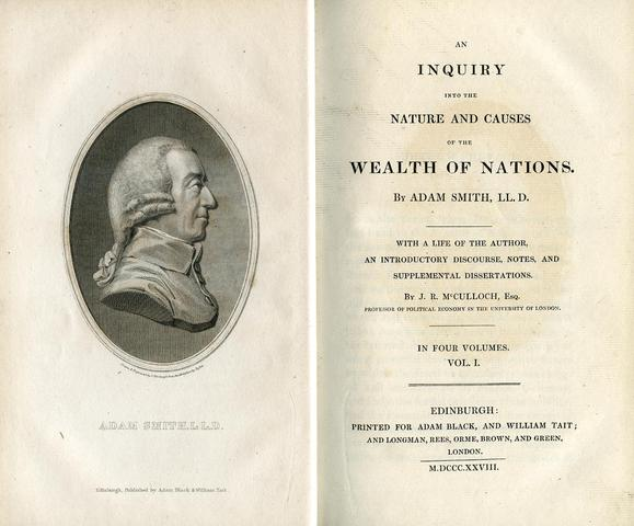 """Publication of """"Wealth of Nations."""""""