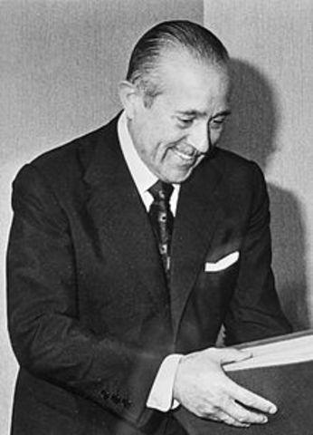 Carlos Arias Navarro ministro de Gobernacion