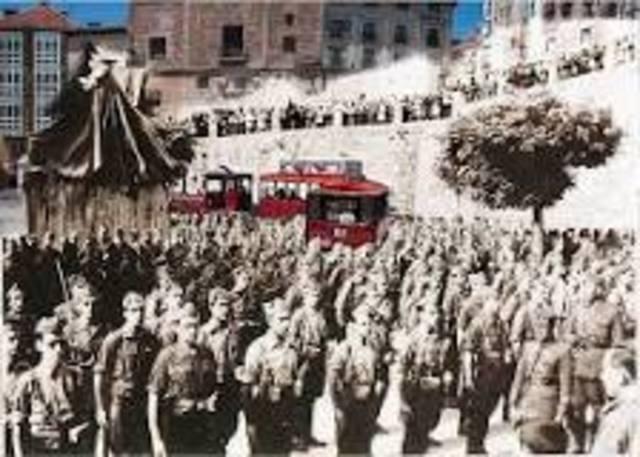 Establecimiento en Burgos de la Junta de Defensa Nacional,