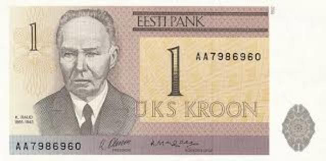 Eesti krooni kasutusele võtmine