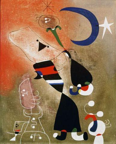 Mujer y pájaro a la luz de la luna (Miró)