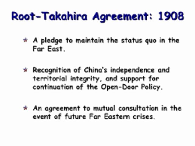 Root-Takahira Agreement