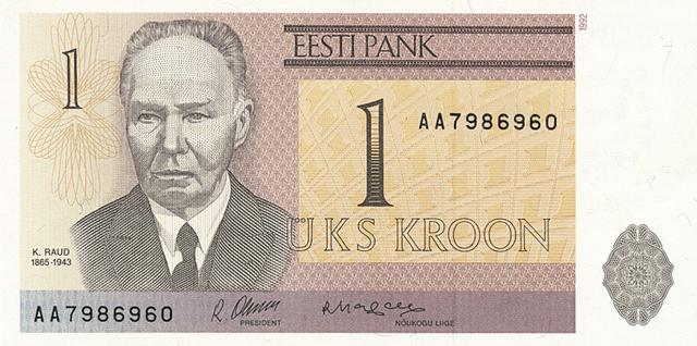 Võeti kasutusele Eesti kroon