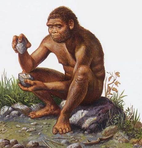 (2 500 000 a.C). Utilización de Huesos y Piedras