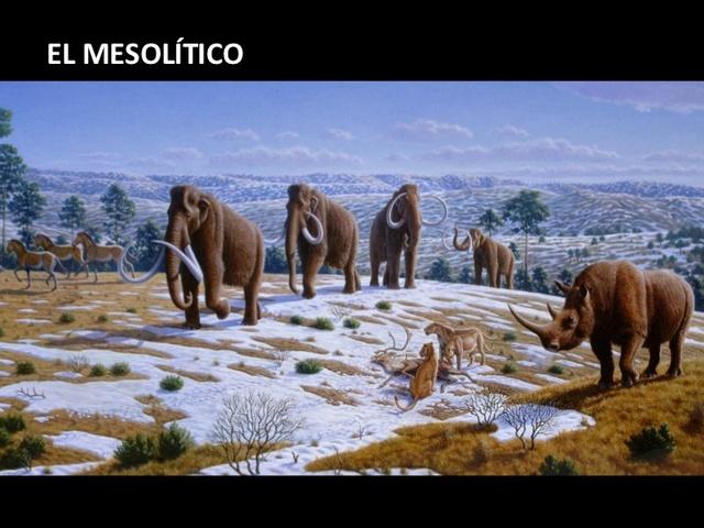 MESOLÍTICO (40 000 - 10 000 a.C.)