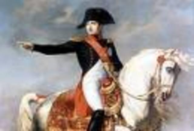Los reyes espanoles abdican en Napoleon
