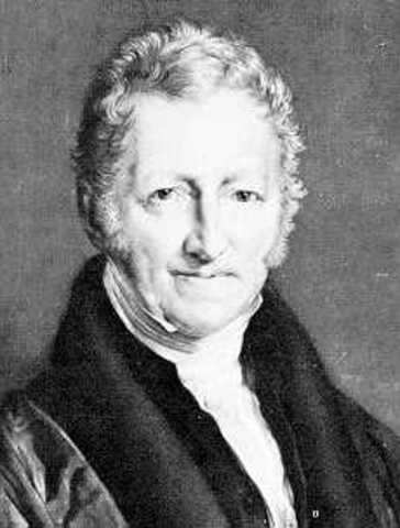 Thomas Malthus oublishes his Essay on Population