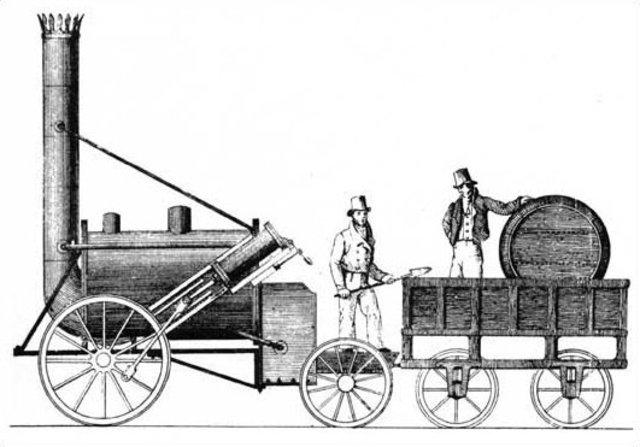 Britain opens first steam locomotive line