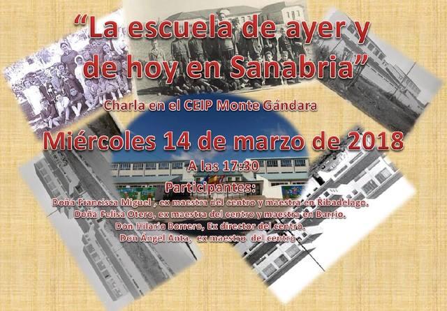 """Charla:  """"La Escuela en Sanabria Ayer y Hoy"""""""