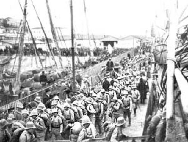 Organización y envío de expediciones militares las colonias.