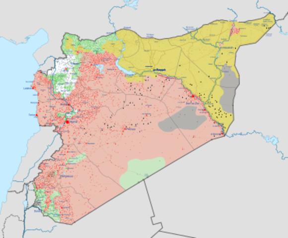Marcha hacia Siria.
