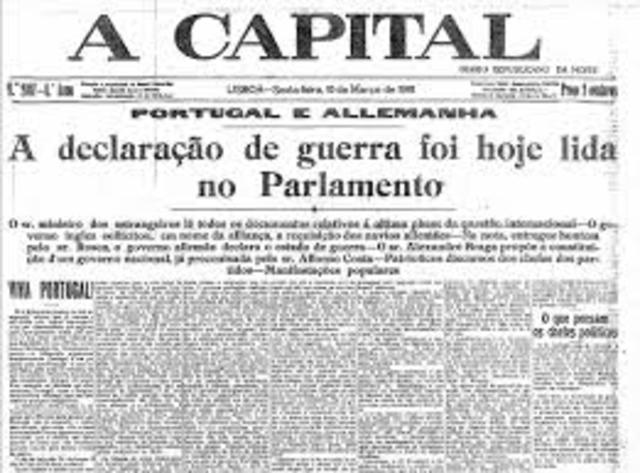 Alemania declara guerra a Portugal