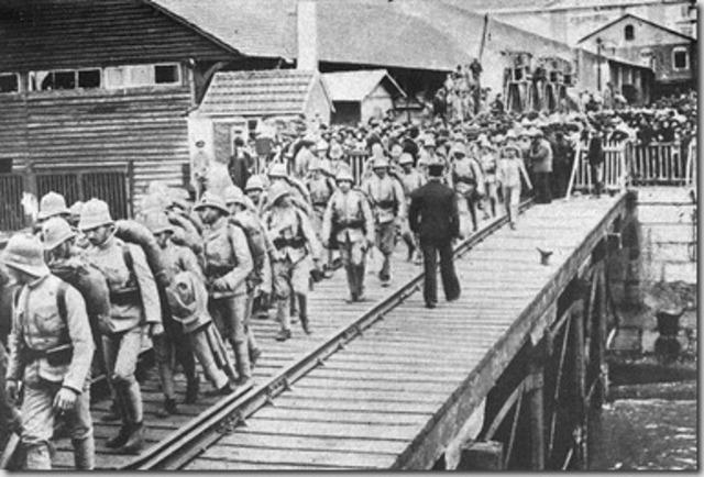 Partida para Francia de la primera Brigada del CEP
