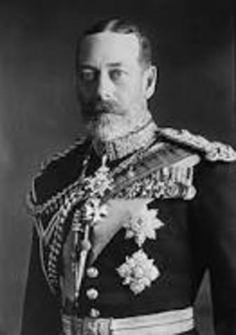 Encontro dos comandantes do CEP com o rei de Inglaterra