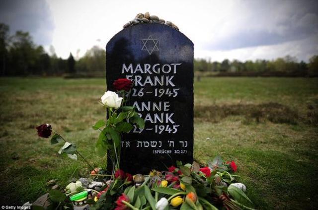 Margot and Anne die of typhus in Bergen-Belson