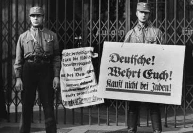 Boycott of Jewish-owned shops and businesses in Germany