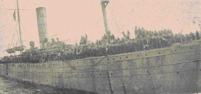 Llegada de los primeros prisioneros de guerra a Portugal.