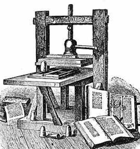 La aparición de la imprenta moderna