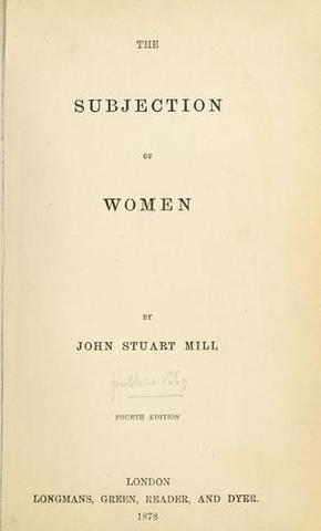 """Publication of """"The Subjection of Women""""."""
