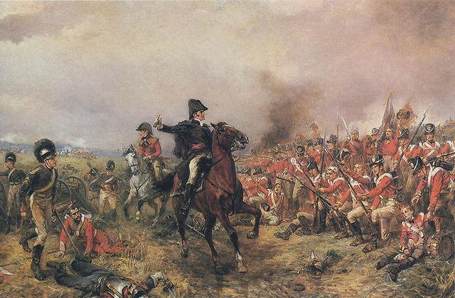 Defeat at Waterloo.