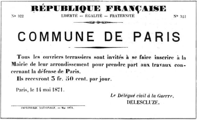 Creation of Paris Commune.