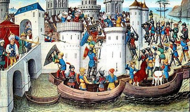 Crusades sack Constantinople