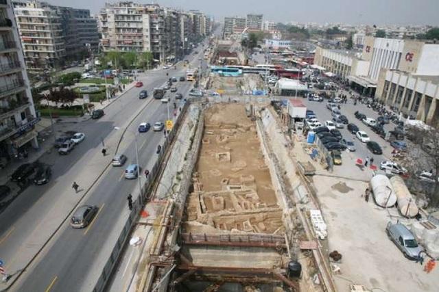Μετρό Θεσσαλονίκης - Το πρώτο εργοτάξιο