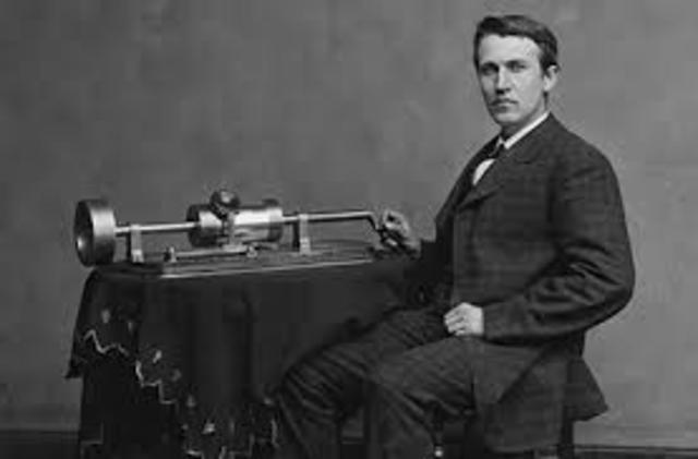 Edison inventa el fonógrafo.