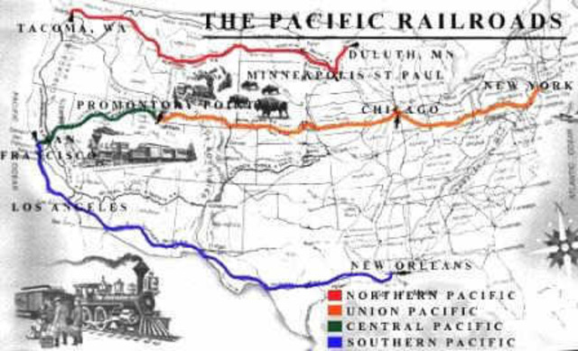 Completion of railroads in the United States