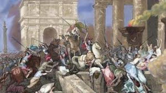 El saqueo de Roma, Ciudad de Dios