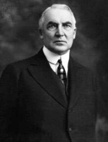 Warren G Harding Elected President