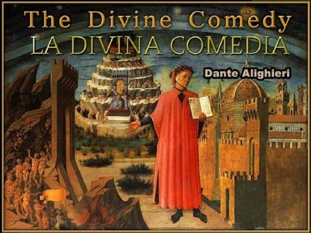 Dante escribe La divina comedia.