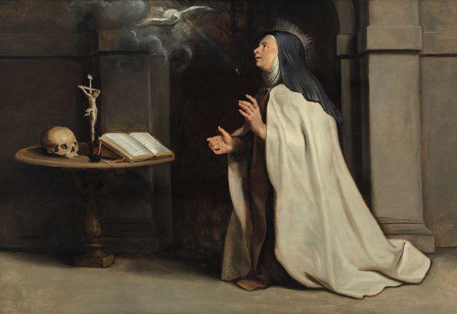 Santa Teresa escribe El Libro de la Vida.