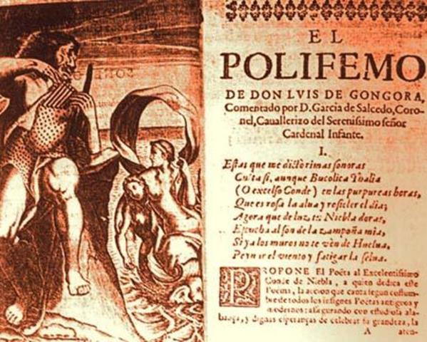 Gongora publica La fábula de Polifemo y Galatea