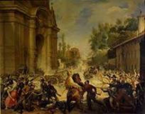 Revolts in southern Italy and Sardinia crushed