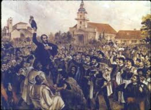 Revolt in Austrian Empire, Metternich dismissed