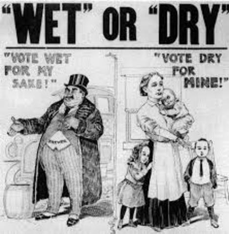 1920's Politics-Prohibition