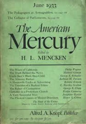 1920's Literature- H.L. Mencken
