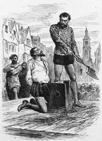 Walter Raleigh Beheaded
