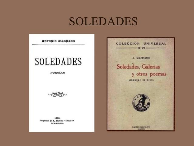 """Antonio Machado publica """"Soledades"""""""