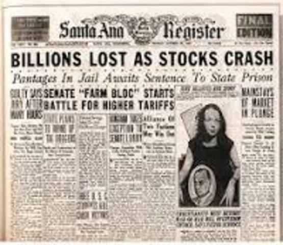 Stock Market Crash- Black Tuesday