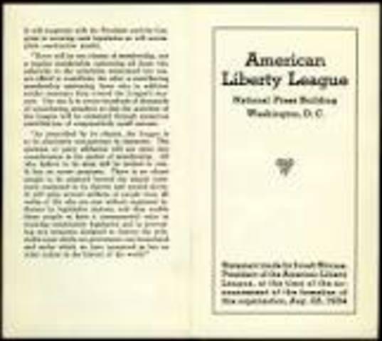 New Deal Programs- American Liberty League