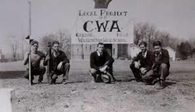 New Deal Programs- Civil Works Administration (CWA)
