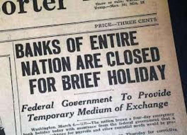 New Deal Programs- Emergency Banking Relief Act (EBRA)