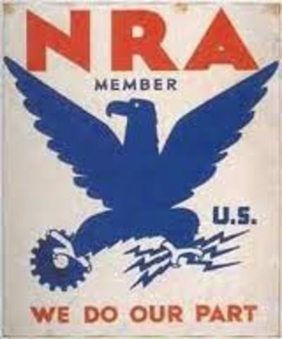 New Deal Programs- National Industrial Recovery Act (NIRA)
