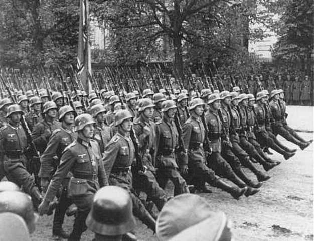 The German Cross the Line
