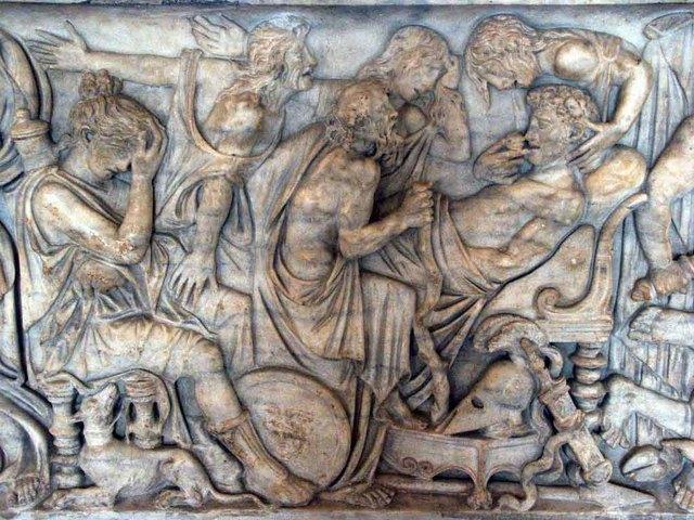 Sarcófago con la muerte de Meleagro