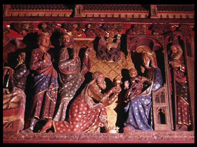 Adoración de los Reyes - Trascoro de Notre Dame de París